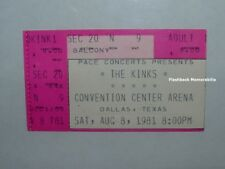 THE KINKS Concert Ticket Stub 1981 DALLAS TX CONV CTR ARENA Very Rare RAY DAVIES