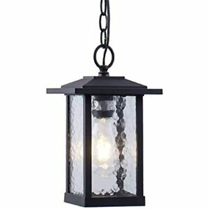 Smeike Outdoor Pendant Lighting, 1-Light Hanging Lantern, Farmhouse Exterior 60W