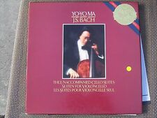 Yo Yo Ma J.S Bach The Unaccompanied Cello Suites BOX 3 LPs EX