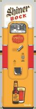 SHINER BOCK TEXAS BEER VENDING MACHINE RETRO VINTAGE ART BANNER MURAL SIGN 2 x 6