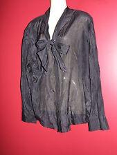 GAP Women's Black L/S Front Tie Sheer Blouse - Size XL - NWT $48