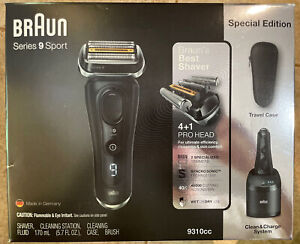 BRAUN Series 9 Sport 9310CC Wet & Dry Clean & Charge System Special Edition