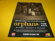 TOM WAITS - Publicité de magazine / Advert ORPHANS !!!!!!!