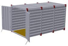 MATERIALCONTAINER 4,00 x 2,20m, Lagercontainer Gartenbox Gartenhaus Baucontainer