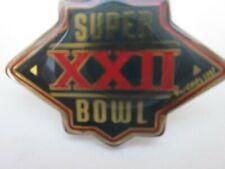 Super Bowl XXII 22 NFL 1987 By Peter David Inc Pin Back