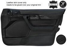 Noir surpiqûres 2X porte arrière carte bordure cuir couvre pour vw bora 1998-2005