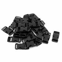Cierre plástico correas lateral hebilla de liberación rápida 1,59 cm 30 piezas