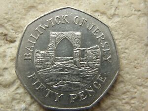 1998 JERSEY  *  Grosnez Castle  * 50P FIFTY PENCE COIN  * COIN HUNT