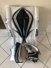 Bauer Rx5 Sr Goal pads With Matching Glove Amd blocker