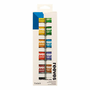 Reeves Postercolour Paint - 22ml, Assorted Colours - Pack of 12
