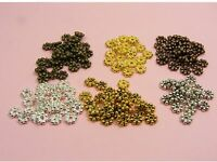 100 x Bali DAISY Metal Spacer BEADS 4mm or 5mm ~ SILVER/ Gold/ Bronze/ Copper ~
