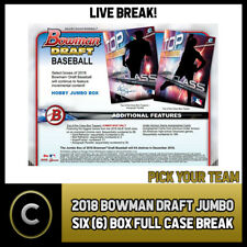 FULL CASE 2018 BOWMAN DRAFT SUPER JUMBO BASEBALL 6 BOX BREAK #A113 RANDOM