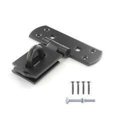 VERTICAL LOCKING HASP AND STAPLE Heavy Duty Bar Shed Door Gate BLACK 150mm / 6""