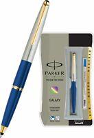 PARKER GALAXY STANDARD GT ROLLER BALL PEN BLUE BODY & BLUE INK (1 PACK)