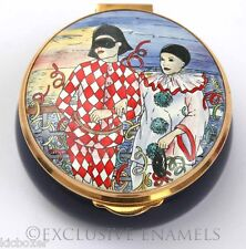 Staffordshire Enamels Harlequin & Pierrot Enamel Box