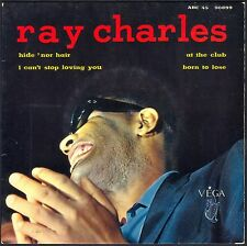 RAY CHARLES HIDE 'NOR HAIR 45T EP BIEM VEGA ABC 90.899 DISQUE PARFAIT