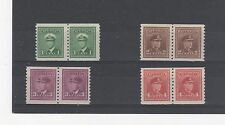 Canada 1948 Coil stamps in pairs MLH