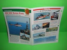 EUROCOPTER AS 332 SUPER PUMA AIRCRAFT FACTS CARD AIRPLANE BOOK 105