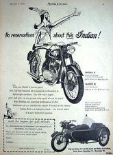 Vintage 1954 INDIAN Models 'S' & 'R' Motor Cycles ADVERT #1 - Original Print AD