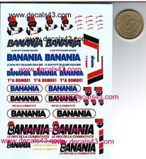 decals decalcomanie logo banania tour de france  divers  1/43