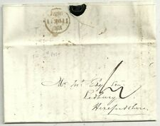 1839 Dec 11 Londres Extra Cuadro Carta a John Ely en Ledbury-Uniforme 4d Post