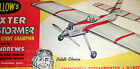 """Guillow's BARNSTORMER PLANS & PARTS PATTERNS for 47"""" OT UC Stunt Model Airplane"""