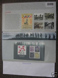 LEST WE FORGET LTD EDITION FDC 4 STAMP PACK MINT COND