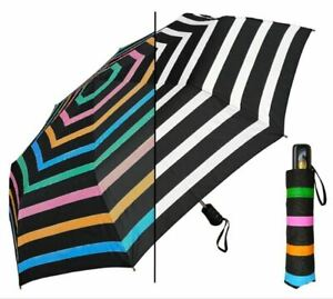 """Umbrella - Color Changing 44"""" Auto Open by RainStoppers - Striped"""