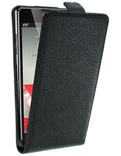 Etui Slim noir à rabat pour LG Optimus G E975