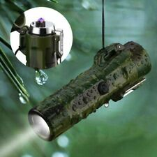 Flashlight ARC Lighter Combo Waterproof USB Charge Camping Outdoors cool gift