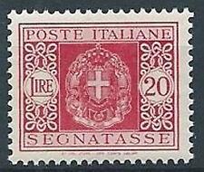 1934 REGNO SEGNATASSE 20 LIRE MNH ** - C5-8
