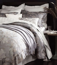 Sferra CORA King Sham Steel Grey Floral Egyptian Cotton Sateen Jacquard New