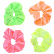 Pack 2 Pink hair scrunchies sheer ruched fabric elastic bobble band scrunchie