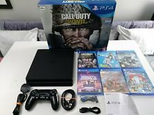 PLAYSTATION 4 SLIM 500GB CONSOLE BUNDLE - INCLUDING 6 GAMES - 5 NEW & SEALED.