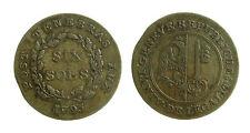 pcc1839_75) Swiss Cantons. City of Geneva. 6 Sols 1795