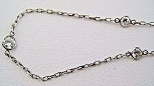 Platinum bezel set diamonds by the yard chain necklace