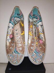 Skechers Twinkle Toes Shuffles Glitterazzi  Sneaker Big Kid Sz 3.5