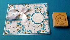 """Stampin Up~ Slice of cake birthday stamp~use 1 3/4"""" scallop circle punch"""