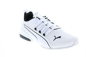 Puma Axelion NXT 19565603 Mens White Canvas Cross Training Athletic Shoes