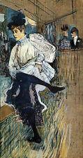Jane Avril dances la melinite in Moulin Rouge Henri Toulouse-Lautrec H a3 0415