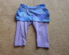 Cg by Champion Girls Navy&Purple Athletic Skirt Overlay Track Pants Sz S 6-6X