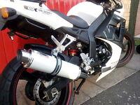 WK 125 Sport 2012 - 2015  White GP PRO RACE MTC Exhaust