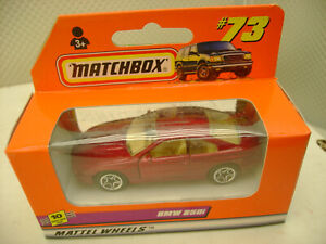 1998 MATCHBOX SUPERFAST #73 CANDY RED BMW 850i NEW IN BOX