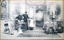 1905 French Postcard: Woman w/Naughty Children, Doll, Toy Horse