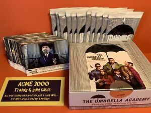 2020 Rittenhouse UMBRELLA ACADEMY Season 1 Base 63 Card Set + Box & Empty Packs