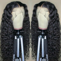 100% Brazilian Remy Human Hair Lace Front Wig/Silk Top Full Lace Wigs Deep Wave