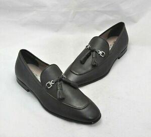 Salvatore Ferragamo Men's Brown Leather Tassle Accent Slip-On Dress Shoe Size 8W