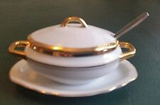 Porcelaine Series Empire #22/282 Attached Bowl Saucer Condiment French Inspired