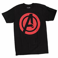 Marvel Avengers Logo Mens Black T-Shirt