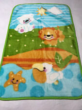 Fisher Price Precious Planet Baby Blanket Lion Pelican Starfish Polar Bear